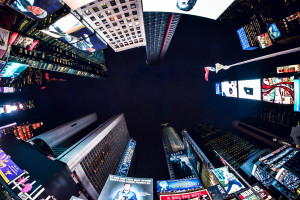 New Year, New Perspective (Literally).  Times Square, NYC